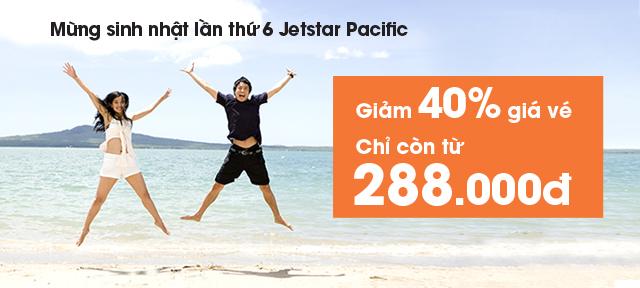 Giảm giá đến 40%, giá vé Jetstar chỉ còn 288,000 VNĐ
