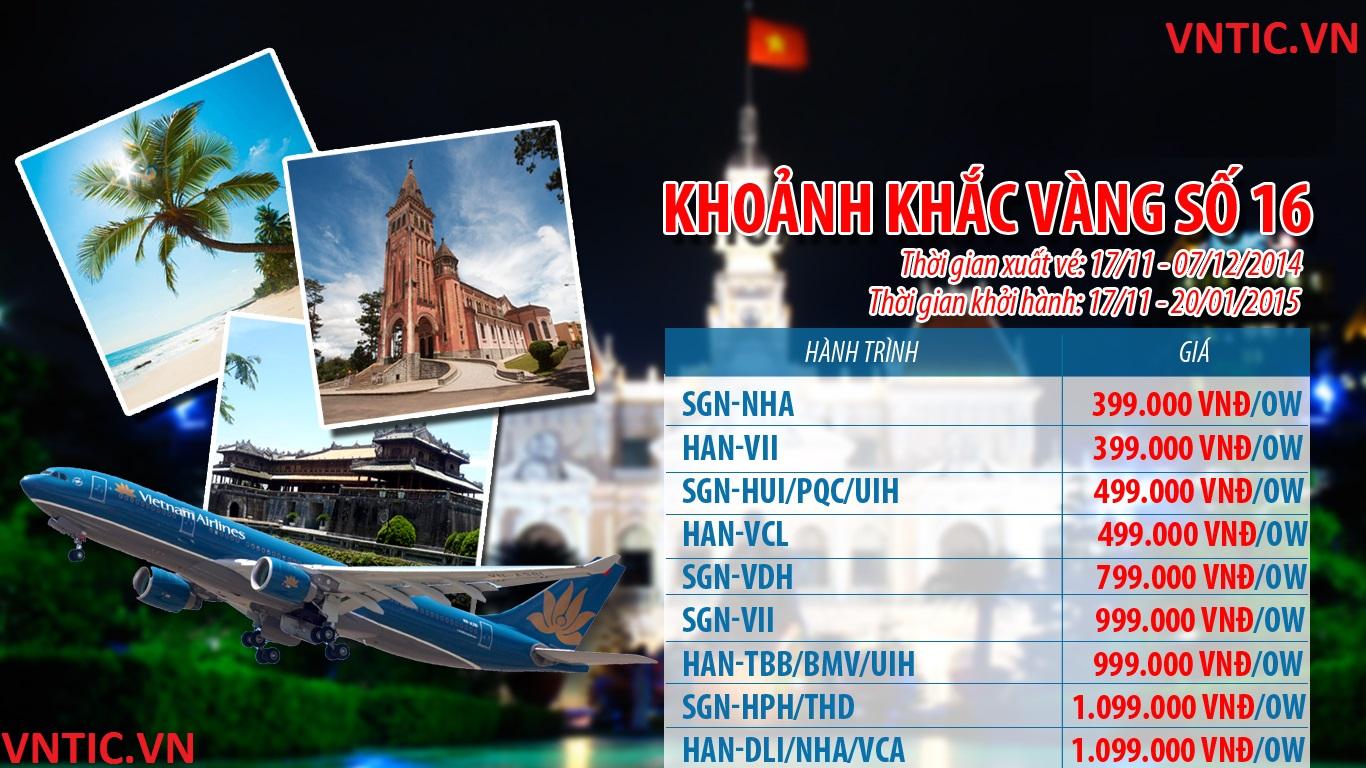 """Chương trình """"Khoảnh khắc vàng 16"""" của Vietnam Airlines"""