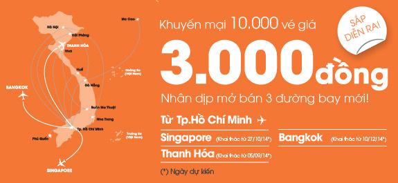 Chương trình 10.000 vé máy bay giá 3.000 đồng