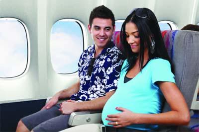 Lưu ý với Hành khách là phụ nữ có thai