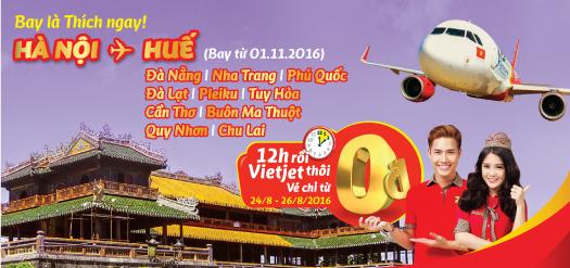 Săn vé máy bay 0 đồng Hà Nội 3 ngày vàng