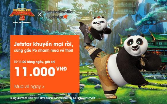 Hè nhộn nhịp vé máy bay 11K cùng Panda KungFu